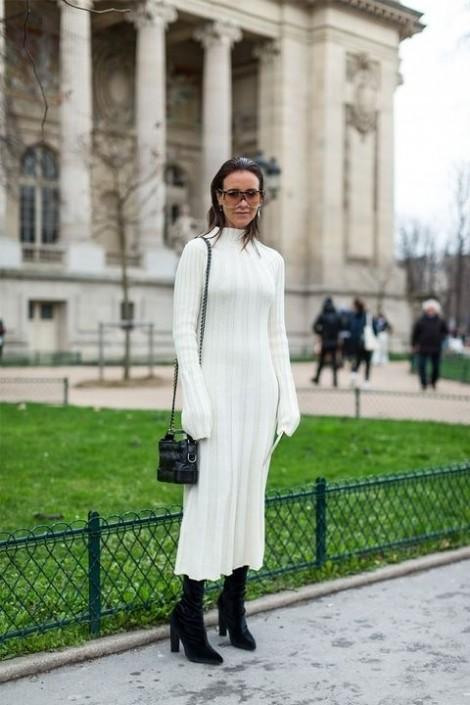 Đón đầu thời trang mùa đông với cách diện đồ trắng