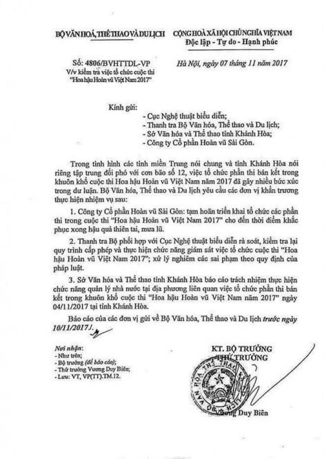 Bán kết HHHV vẫn diễn ra bên cạnh thảm họa: Trách nhiệm thuộc về Sở VH-TT&DL Khánh Hòa