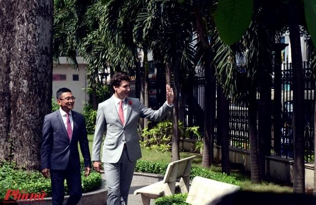 Thu tuong Canada Justin Trudeau danh cong tai San giao dich Chung khoan TP.HCM