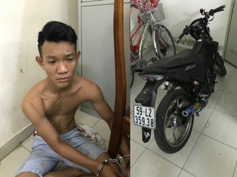 Trinh sát bắt 'nóng' tên cướp giật điện thoại của du khách nước ngoài