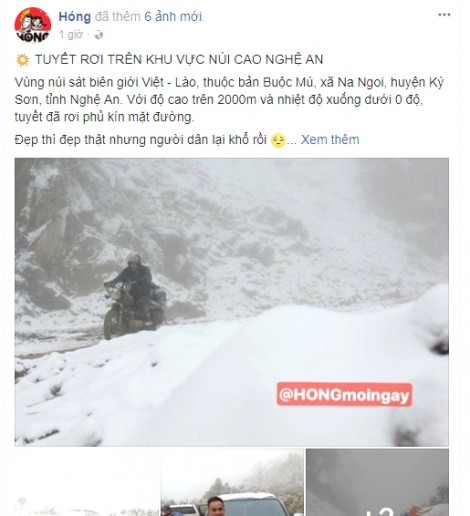 Không có chuyện 'tuyết rơi trắng đường' ở Nghệ An