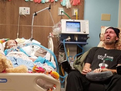 Người phụ nữ chia sẻ nỗi đau con gái và bố sắp lìa đời trong 1 tấm ảnh