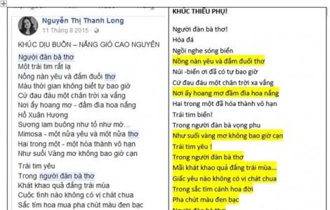 Uẩn khúc phía sau nghi án đạo thơ của nhà thơ Nguyễn Thị Thanh Long