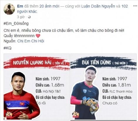 Phái đẹp đứng ngồi không yên với 'tình sử' cầu thủ U23 Việt Nam