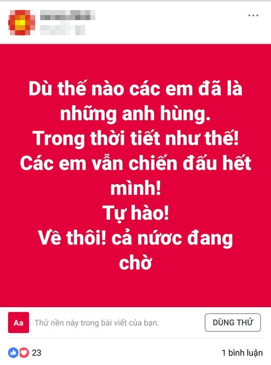 Tam tu hang trieu co dong vien gui U23 Viet Nam