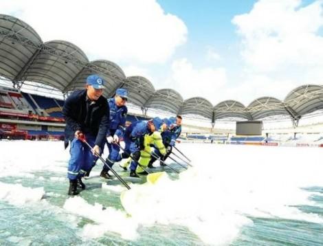 Không hoãn trận U23 Việt Nam - Uzbekistan dù tuyết rơi dày đặc
