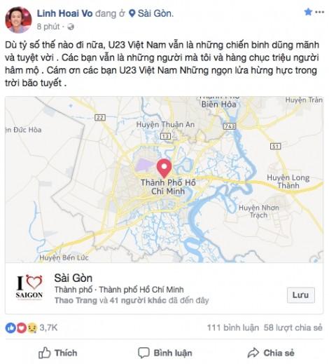 Nghệ sĩ Việt: 'U23 Việt Nam đã thực sự là những anh hùng'