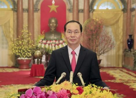 Thư chúc tết Nguyên đán Mậu Tuất 2018 của Chủ tịch nước Trần Đại Quang