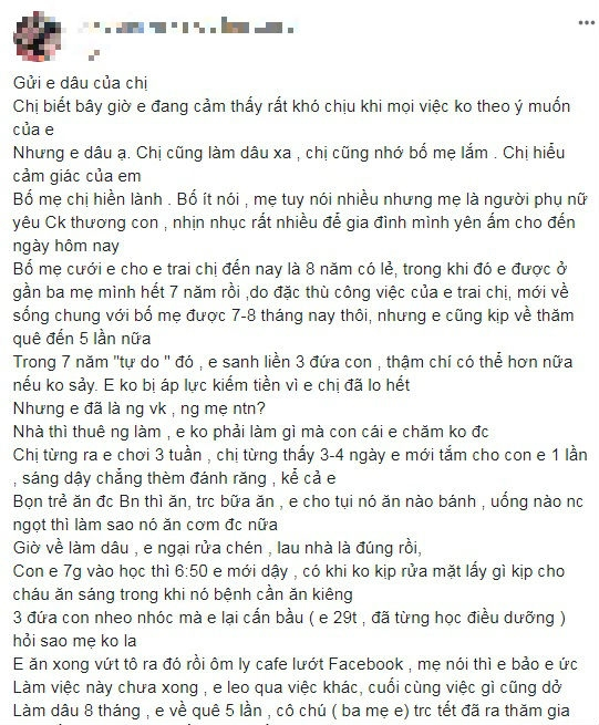 Chi chong len mang 'boc phot' em dau luoi bieng, ich ky