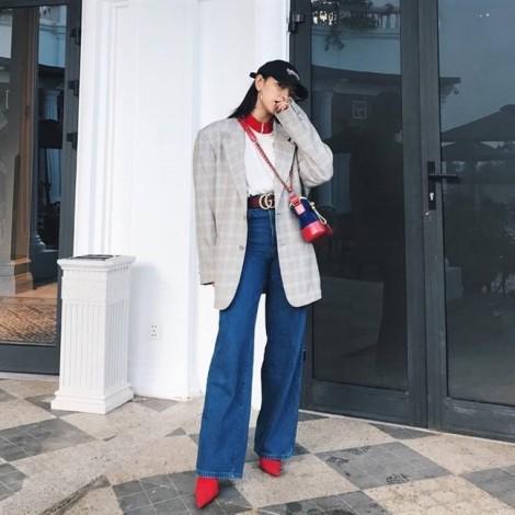 Blazer kẻ ca rô 'chiếm sóng' street style sao Việt