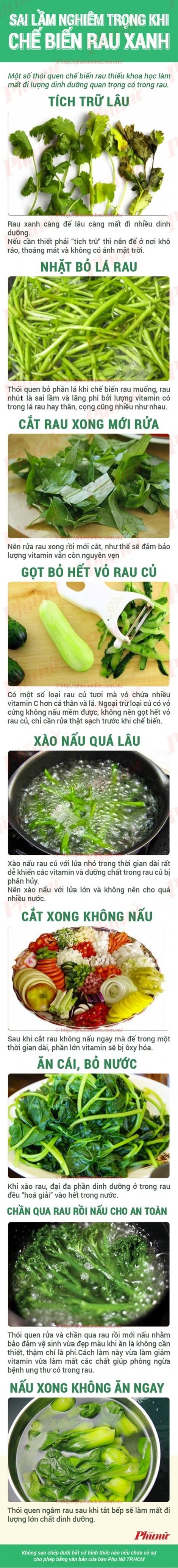 Cách sơ chế rau củ quả tốt cho sức khỏe