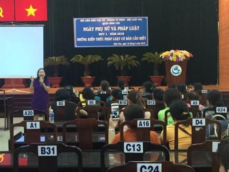 Quận Bình Tân: Tổ chức Ngày phụ nữ và pháp luật năm 2018