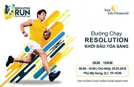 Sun Life Việt Nam tài trợ chính cho giải chạy bộ 'Sun Life Việt Nam – Đường chạy khởi đầu tỏa sáng 2018', với thông điệp sống khỏe mạnh hơn