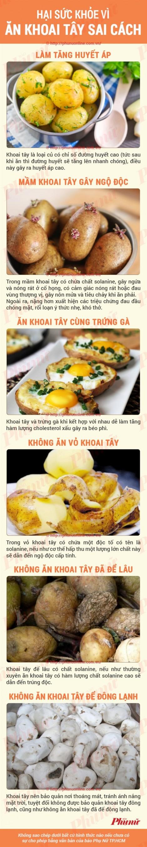 Tác hại của khoai tây nếu ăn sai cách