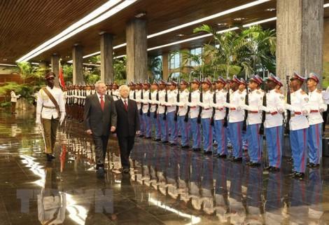 Chủ tịch Cuba Raul Castro Ruz hội đàm với Tổng bí thư Nguyễn Phú Trọng
