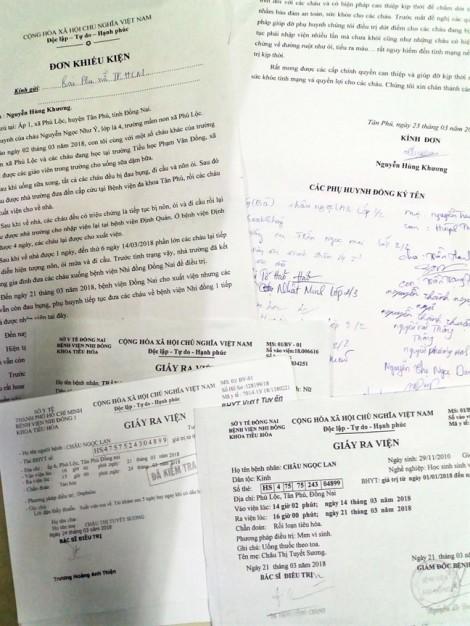 38 ngày sau vụ học sinh 'ngộ độc' tập thể ở Phú Lộc, Tân Phú, Đồng Nai: Phụ huynh cầu cứu Thủ tướng