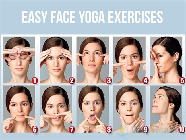 Yoga khuon mat giup tre trung khong can lan kim - phau thuat tham my