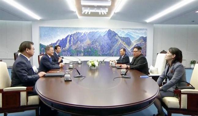 Bong hong dac biet thap tung ong Kim Jong Un sang bien gioi Han Quoc