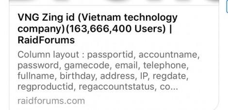 163 triệu tài khoản ZingID bị lộ, bạn cần làm ngay điều này để tự bảo vệ mình