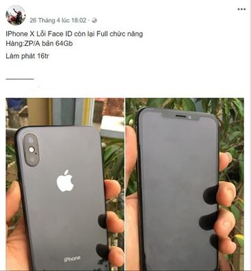 Hang loat iPhone X ban lo vi loi nhan dien guong mat
