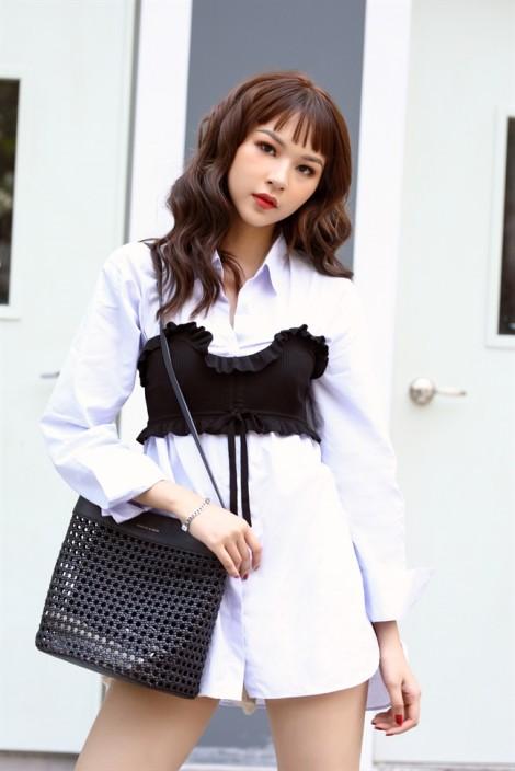 Cách phối trang phục mùa hè sinh động của Phí Phương Anh The Face