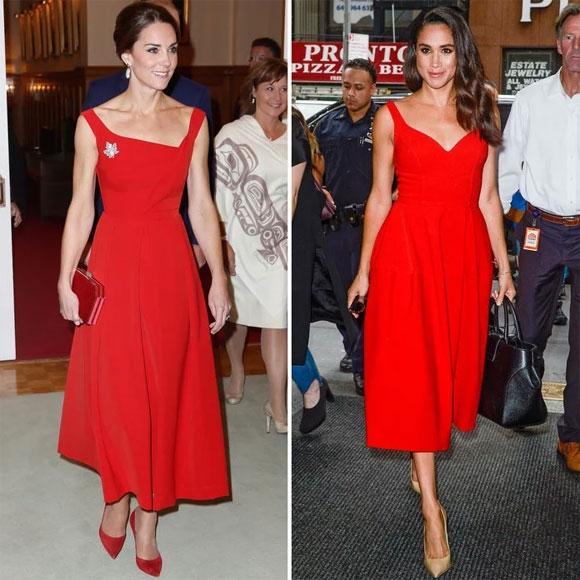 Gu thoi trang dong dieu ky la cua Kate Middleton va Meghan Markle