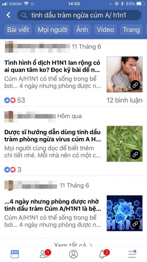 Nở rộ sản phẩm quảng cáo ngừa cúm A/H1N1