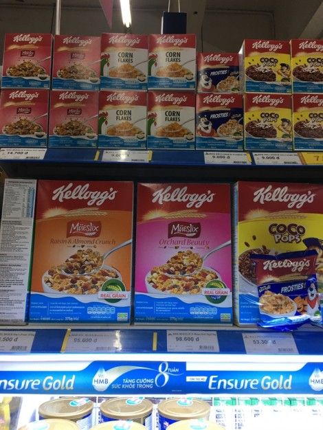 'Ma trận' ngũ cốc dinh dưỡng ngoại nhập