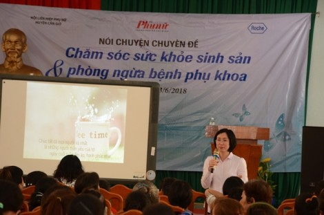 Cung cấp kiến thức chăm sóc sức khỏe cho phụ nữ xã đảo Thạnh An