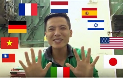Tài xế GrabBike nói 10 thứ tiếng gây sốt cộng đồng mạng