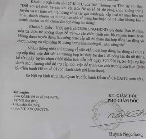 44 trí thức trẻ ở Cà Mau chưa nhận được các khoản trợ cấp, dù đã kết thúc hợp đồng