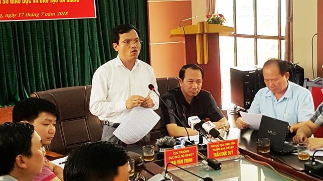 Vu nang khong diem thi o Ha Giang: Pho phong khao thi loi dung quy trinh long leo?