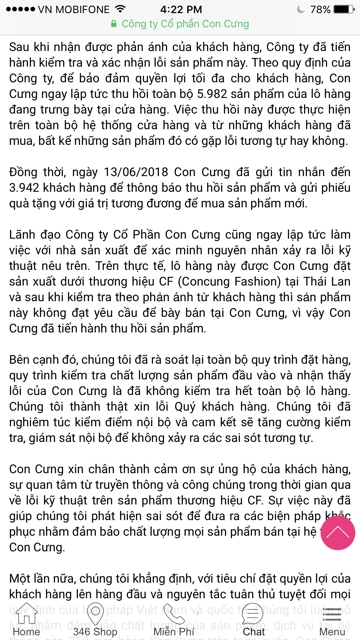 Them 70 cua hang Con Cung bi 'kham'
