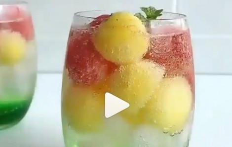 Cách làm soda dưa hấu mát lạnh ngày hè