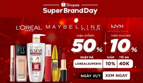 Giảm giá đến 50% các sản phẩm của L'Oreal trên Shopee