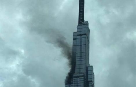 Thi công gây cháy tại tòa nhà cao nhất Việt Nam