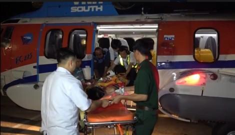 Trực thăng đưa ngư dân đột quỵ não từ Trường Sa vào đất liền cấp cứu