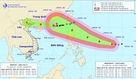 Siêu bão mạnh cấp 17 theo sau bão số 5