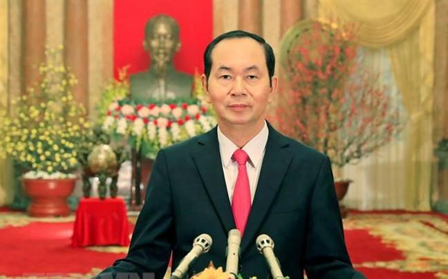 Dau an Chu tich nuoc Tran Dai Quang qua anh