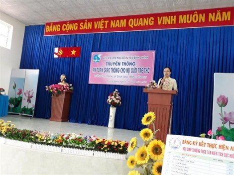 Huyện Bình Chánh: Truyền thông về an toàn giao thông cho trẻ em