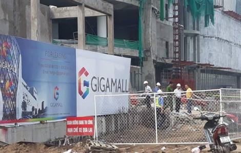 Đình chỉ thi công dự án GiGamall làm 3 công nhân rơi từ tầng cao xuống đất