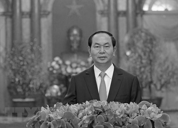 Truyen thong quoc te tiec thuong Chu tich nuoc Tran Dai Quang