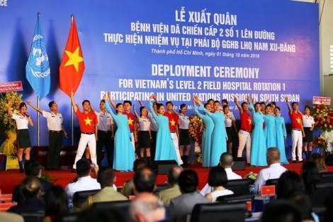 63 chiến sĩ quân y Việt Nam chính thức đến Nam Sudan thực hiện nhiệm vụ quốc tế