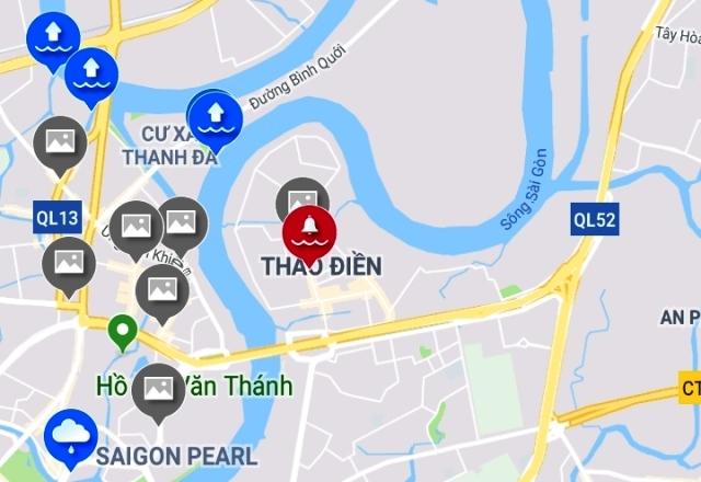 Nang duong, dat tram bom cuu ngap 'khu dai gia' Sai Gon