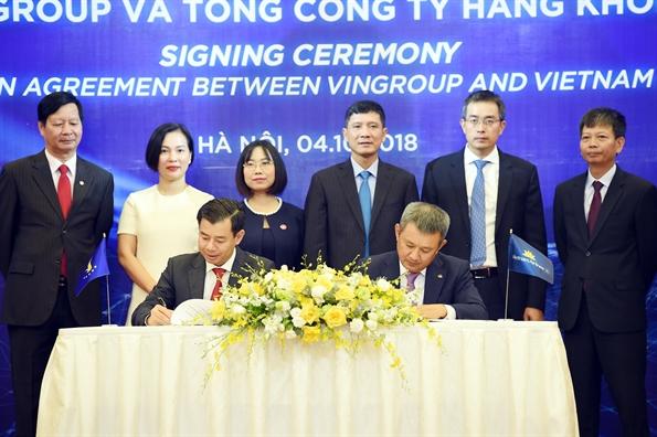 Vietnam Airlines va Vingroup ky thoa thuan hop tac