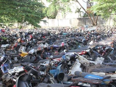 TP.HCM: Hơn 19.000 phương tiện vi phạm quá hạn tạm giữ nhưng không ai nhận