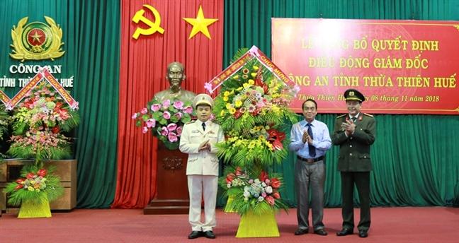 Pho tu lenh Bo tu lenh CSCD lam Giam doc Cong an tinh Thua Thien - Hue