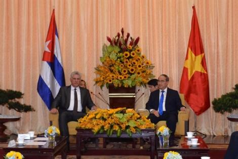 Chủ tịch Cuba ấn tượng với sự phát triển của TP.HCM