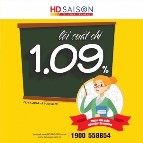 Tháng tri ân nhà giáo Việt Nam: Ưu đãi vay tiêu dùng từ HD SAISON