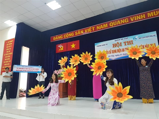 Quan Go Vap: Hon 200 nguoi tham gia, co vu hoi thi tuyen truyen tiet kiem dien